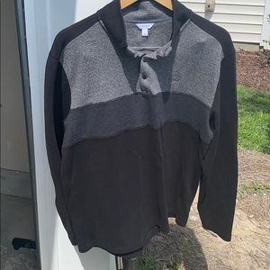 Calvin Klein pull over Large *push buttons*
